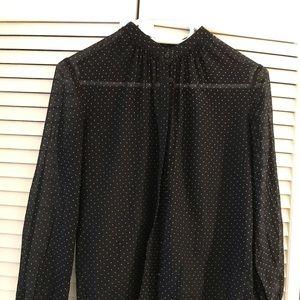 Cotton/silk polka dots shirt club Monaco